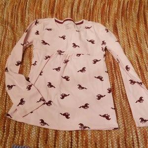 Girls 8 gap horse lover shirt